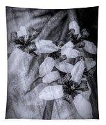 Romantic Island Iris In Black And White Tapestry