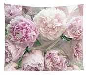 Romantic Shabby Chic Pastel Pink Peonies Bouquet - Romantic Pink Peony Flower Prints Tapestry