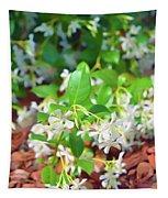 Romantic Skies Jasmine In Bloom Tapestry