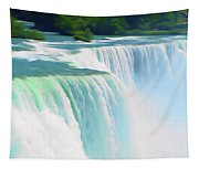 Romantic Skies Niagara Falls 2  Tapestry