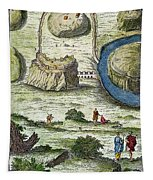 Rome: Seven Hills, 18th C Tapestry