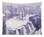Roofs Under Snow Tapestry