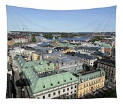 Rooftops Of Stockholm Tapestry