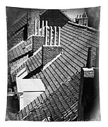 Rooftops Of Belgium Gothic Style Tapestry