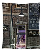 Rooms For Rent 25 Cents Signage Tapestry