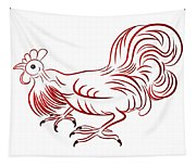 Rooster - Sign Of Chinese New Year Tapestry