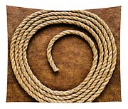 Rope On Leather Tapestry