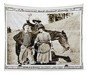 Roping Her Romeo 1919 Tapestry