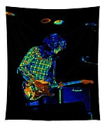 Saturated Blues Rock Tapestry