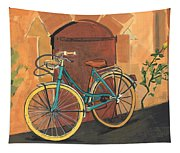 Rose And Bicycle Tapestry
