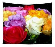 Rose Bouquet Painting Tapestry