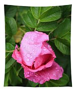 Rose Bud And Bee Tapestry