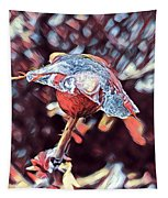 Rose Bud Frozen In Time  Tapestry