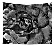 Rose In Black And White Tapestry