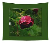 Rose On The Vine Tapestry