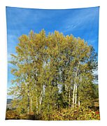 Rosehips And Cottonwoods Tapestry