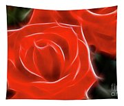 Roses-5814-fractal Tapestry