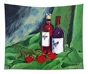 Roses And Wine Tapestry