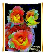 Roses For Anne Catus 1 No. 3 V A With Decorative Ornate Printed Frame. Tapestry