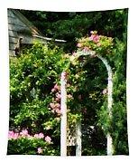 Roses On Trellis Tapestry