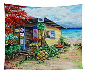 Rosies Beach Cafe Tapestry