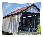 Rosseeau/fairgrounds Covered Bridge Tapestry