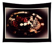 Rosses On A Flowing Dish Tapestry