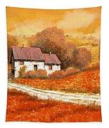 Rosso Papavero Tapestry by Guido Borelli