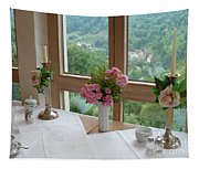 Rothenburg Dining With A View Tapestry
