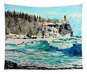 Rough Water At Split Rock Tapestry