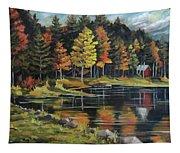 Round Pond Newbury Vermont Plein Air Tapestry