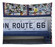 Route 66 Bench Tapestry
