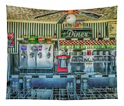 Route 66 Valentine Diner Tapestry