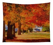 Row Of Maples Tapestry