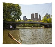Rowing In Central Park Tapestry