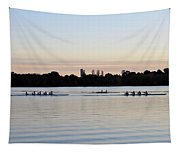 Rowing Under A Pastel Sky Tapestry