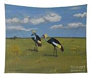 Royal Cranes Tapestry