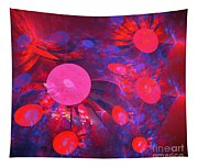 Ruby Blue Rays Tapestry