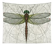 Ruby Meadowhawk Dragonfly Tapestry