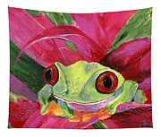 Ruby The Red Eyed Tree Frog Tapestry