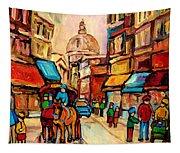 Rue St. Paul Old Montreal Streetscene Tapestry