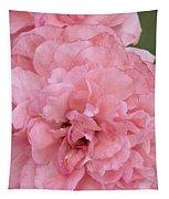 Ruffled Pink Rose Tapestry