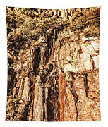 Rugged Vertical Cliff Face Tapestry