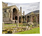 Ruins. Melrose Abbey. Tapestry