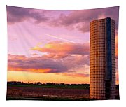 Rural Boulder County Sunset Tapestry