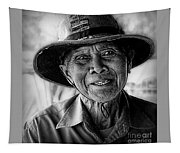Rural Rice Farmer Tapestry