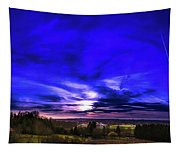 Rural Sunset Panorama Tapestry