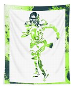 Russell Wilson Seattle Seahawks Water Color Art 1 Tapestry