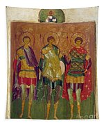 Russian Icon: Saints Tapestry