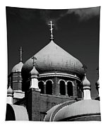 Russian Orthodox Church Bw Tapestry